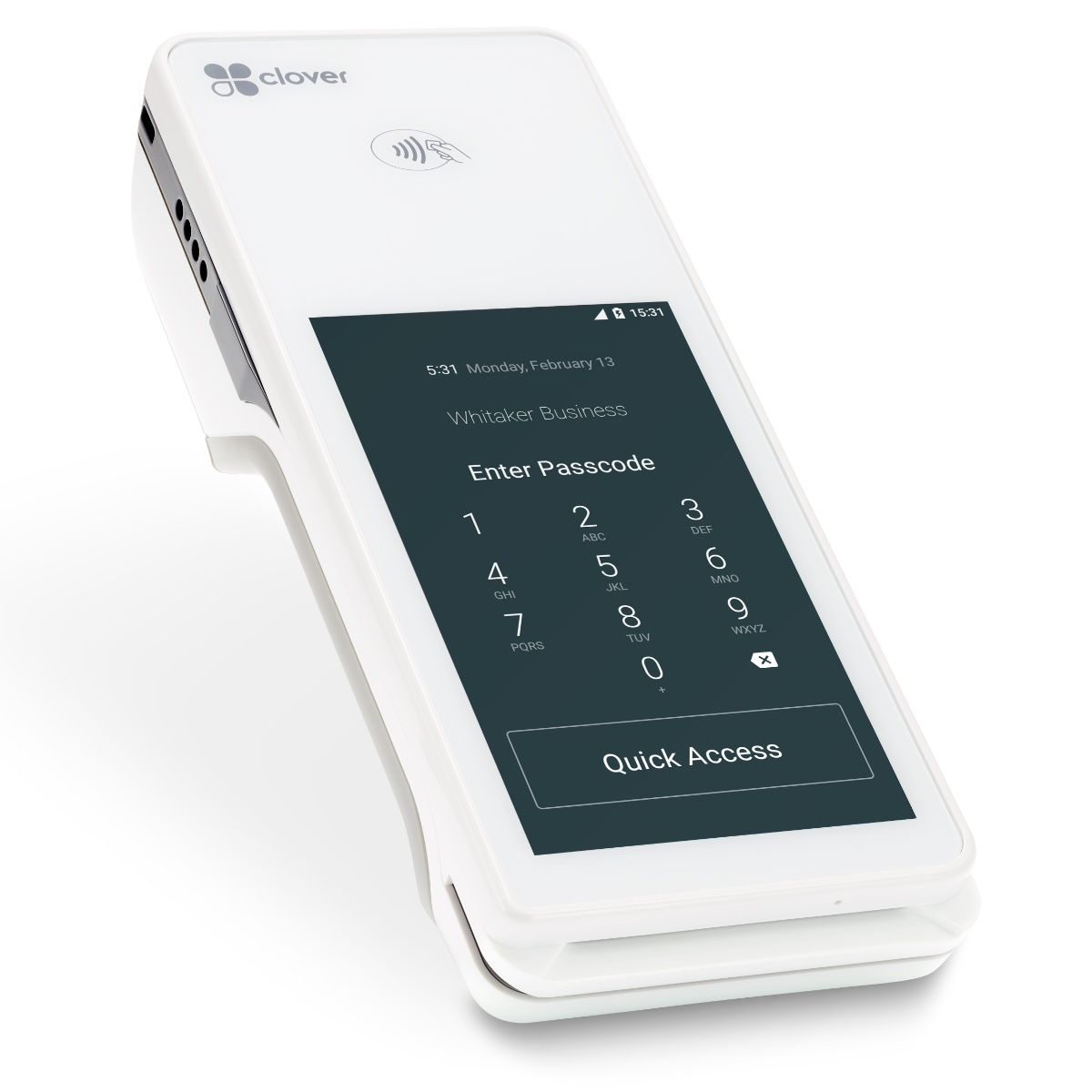 Clover Flex Passcode Screen
